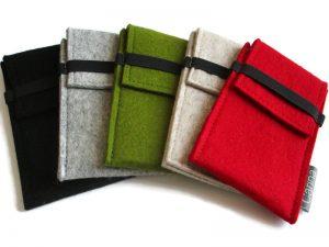 Smartphone hoes cover sleeve van wolvilt in Advanced uitvoering diverse kleuren