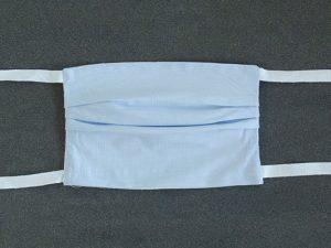 Mondkapje mondmasker lichtblauw voorkant