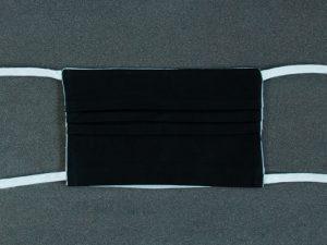 Mondkapje mondmasker zwart effen voorkant