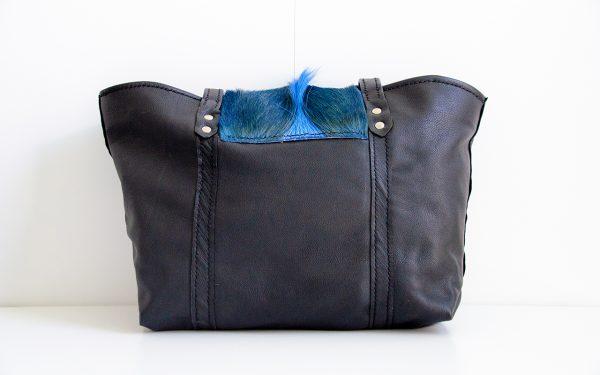 Foto van royale handtas van soepel rundleer achterkant