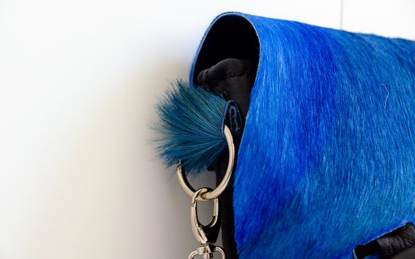 Foto met detail van schoudertas